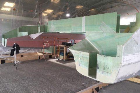 Construction catamaran partie 4